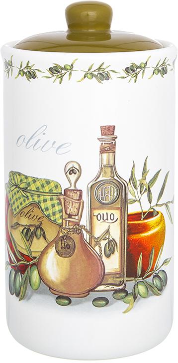 Банка для сыпучих продуктов Elan Gallery Оливковое масло, с крышкой, 800 мл720326Банка для сыпучих продуктов Elan Gallery изготовлена из прочной керамики высокого качества. Изделие оформлено красочным изображением. Гладкая и ровная глазурованная поверхность обеспечивает легкую очистку. Банка прекрасно подойдет для хранения различных сыпучих продуктов: специй, чая, кофе, сахара, круп и многого другого. В комплекте идет крышка, что помогает дольше сохранять свежесть продуктов.Яркий дизайн подарит вам хорошее настроение и украсит вашу кухню!