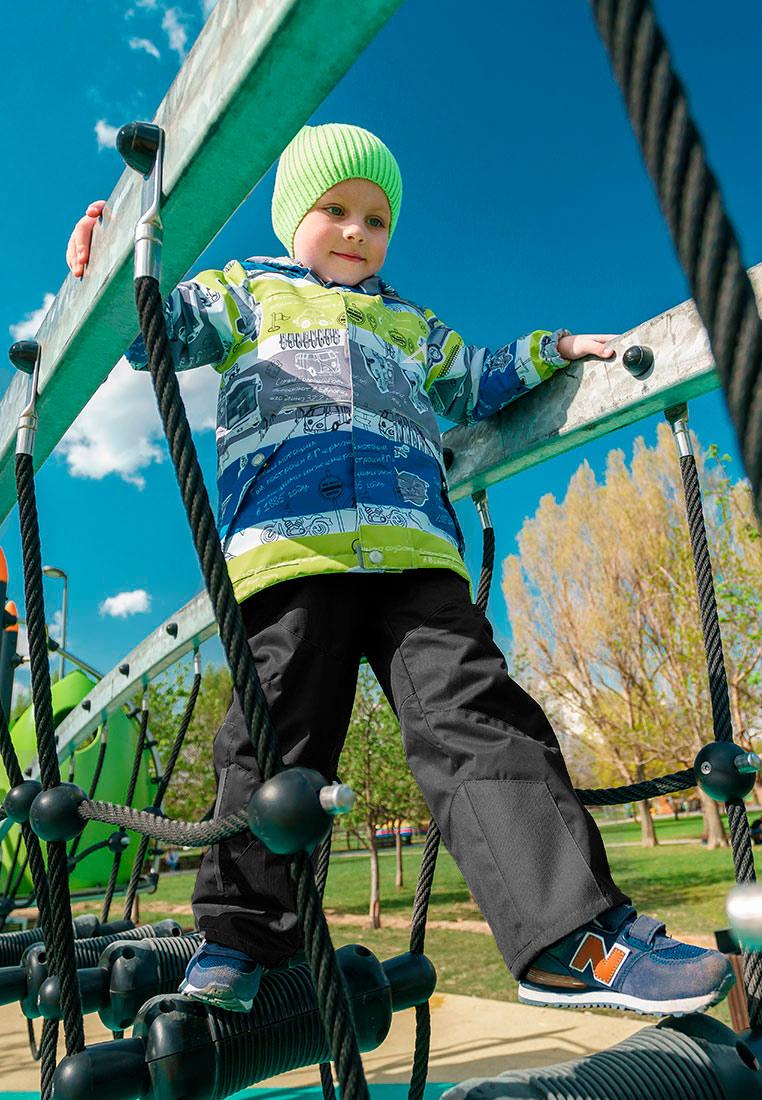Комплект верхней одежды для мальчика Oldos Active Ларри, цвет: синий, салатовый, черный. 2A8SU22. Размер 98, 3 года