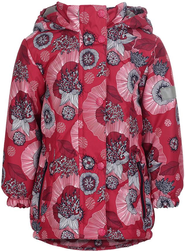 Куртка для девочки Jicco By Oldos Ирма, цвет: малиновый, фиолетовый. 2J8JK01. Размер 116, 6 лет2J8JK01Легкая и удобная весенняя куртка для юных модниц Ирма от Jicco By Oldos. Внешняя ткань с водо-грязеотталкивающей пропиткой защищает от ветра и дождя. Утеплитель в куртке синтепон 100 г/м2. Подкладка 100% полиэстер. Куртка имеет все самое необходимое для комфортной носки: капюшон с внутренней резинкой по краям для лучшего прилегания, двойную ветрозащитную планку по всей длине молнии с защитой подбородка от защемления, манжеты на резинке, по талии вшита резинка для лучшего прилегания, карманы на молнии. Светоотражающие элементы.