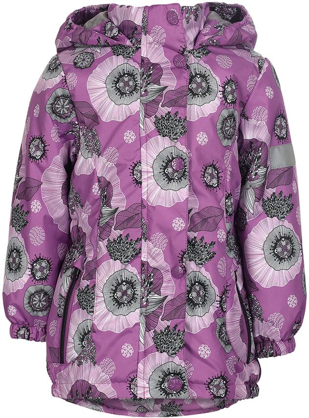 Куртка для девочки Jicco By Oldos Ирма, цвет: сиреневый. 2J8JK01. Размер 110, 5 лет2J8JK01Легкая и удобная весенняя куртка для юных модниц Ирма от Jicco By Oldos. Внешняя ткань с водо-грязеотталкивающей пропиткой защищает от ветра и дождя. Утеплитель в куртке синтепон 100 г/м2. Подкладка 100% полиэстер. Куртка имеет все самое необходимое для комфортной носки: капюшон с внутренней резинкой по краям для лучшего прилегания, двойную ветрозащитную планку по всей длине молнии с защитой подбородка от защемления, манжеты на резинке, по талии вшита резинка для лучшего прилегания, карманы на молнии. Светоотражающие элементы.