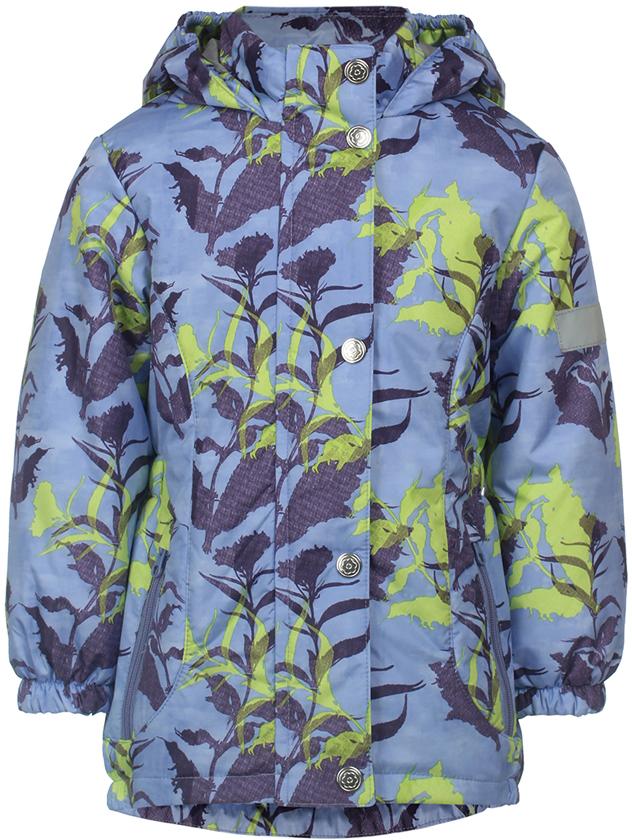 Куртка для девочки Jicco By Oldos Цветы, цвет: сиреневый. 2J8JK02. Размер 122, 7 лет куртка для девочки jicco by oldos 3к1717 эсма цвет сирень бирюзовый 92 4690205253828