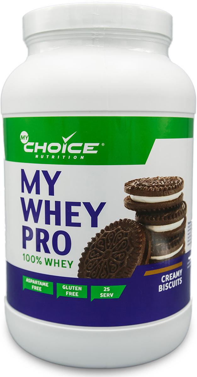 Сывороточный протеин MyChoice Nutrition My Whey Pro, печенье, 825 г напиток mychoice nutrition my fitness collagen liquid wellness shot шоколад 9 x 60 мл
