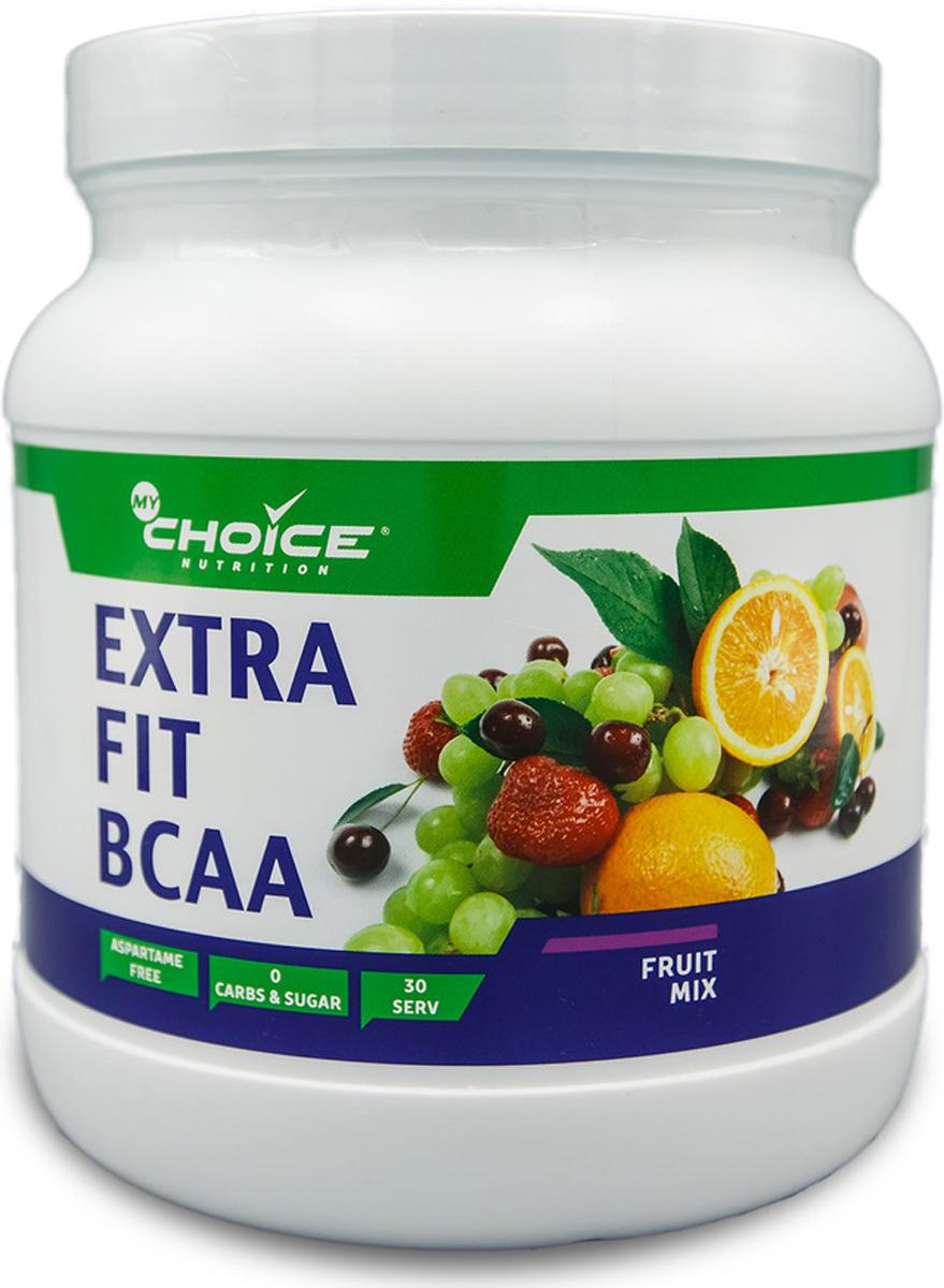 Аминокислоты MyChoice Nutrition Extra Fit BCAA, экзотик, 375 г4603726699785Комплекс аминокислот -продукт, который улучшит Ваш результат. Синергетическое действие компонентов позловолит достичь желаемых целей намного быстрее. Глютамин поддержит Вашу иммунную систему, что несомненно важно, так как организм испытывает стресс во время физических нагрузок, а первое что страдает-это иммунитет. BCAA в соотношении 4:1:1 повысят эффективность Ваших тренировок, ускорят процесс жиросжигания, восстановление после тренировок будет проходить значительно быстрее. Таурин защитит сердечно-сосудистую систему, а глицин благотворно повлияет на работу центральной нервной системы. Данный продукт будет полезен не только спортсменам любого уровня подготовки, но так же тем, кто заботится о своем здоровье, независимо от спортивных пристрастий.Способ применения: растворить 2 мерных ложки (12,5 г) продукта в 200-250 мл воды, взрослым принимать данную порцию 1 раз в день.Состав: L-лейцин, L-изолейцин, L-валин, L-глутамин, лецитин соевый, лимонная кислота, ароматизатор, таурин, глицин, подсластитель сукралоза, краситель пищевой натуральный кармин.