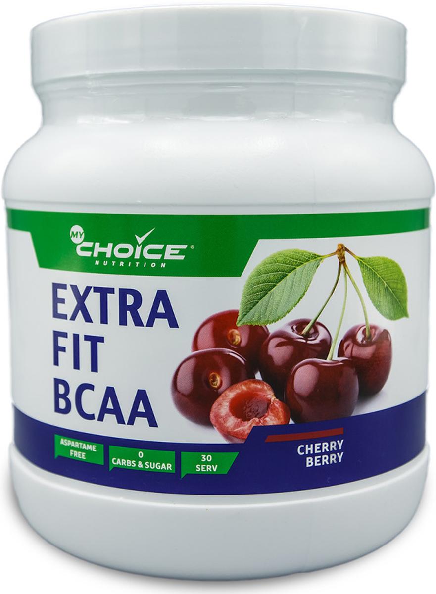 Аминокислоты MyChoice Nutrition Extra Fit BCAA, вишня, 375 г коэнзим mychoice nutrition coq10 60 шт