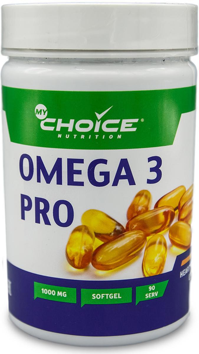 Рыбий жир MyChoice Nutrition Omega 3 pro, 1000 мг, 90 шт рыбий жир mychoice nutrition omega 3 pro 1000 мг 90 шт