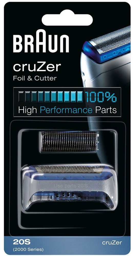 Braun 20S сетка + режущий блок CruZer 2 x 20s shaver foil and 1 x blade for braun 20s 2000 series cruzer 1 2 3 4 for 2615 2675 2775 2776 170 190 free shipping