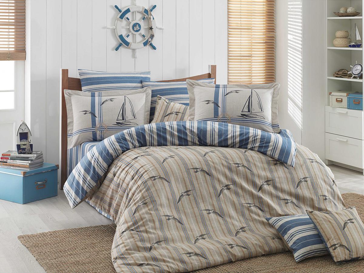Комплект белья Hobby Home Collection Marinella, 1,5-спальный, наволочки 50x70, 70х70, цвет: голубой1501001260Поплиновое постельное белье имеет ряд несомненных достоинств: оно хорошо сохраняет форму и цвет, имеет приятную на ощупь поверхность, хорошо удерживает тепло и впитывает влагу, почти не мнется. Кроме этого, комплекты постельного белья из поплина не требуют специального ухода: их можно стирать в стиральной машине при температуре до 60? С и гладить при температуре до 110? С. Ткань поплин гипоаллергенна, отвечает всем европейским экологическим стандартам. И, наконец, такое постельное белье при всех своих высоких эксплуатационных качествах стоит относительно недорого