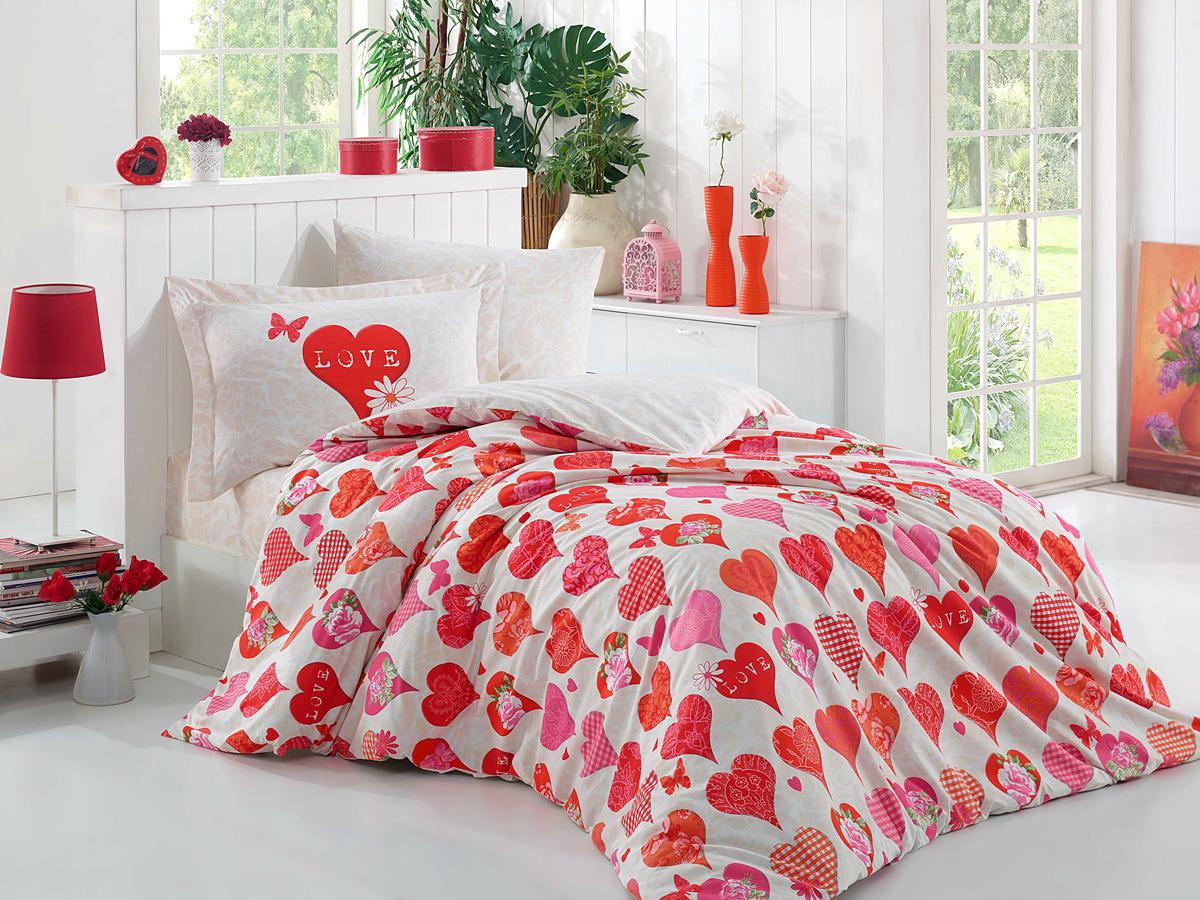 Комплект белья Hobby Home Collection Vera, 1,5-спальный, наволочки 50x70, 70х70, цвет: красный1501001321Поплиновое постельное белье имеет ряд несомненных достоинств: оно хорошо сохраняет форму и цвет, имеет приятную на ощупь поверхность, хорошо удерживает тепло и впитывает влагу, почти не мнется. Кроме этого, комплекты постельного белья из поплина не требуют специального ухода: их можно стирать в стиральной машине при температуре до 60 градусов и гладить при температуре до 110 градусов. Ткань поплин гипоаллергенна, отвечает всем европейским экологическим стандартам.