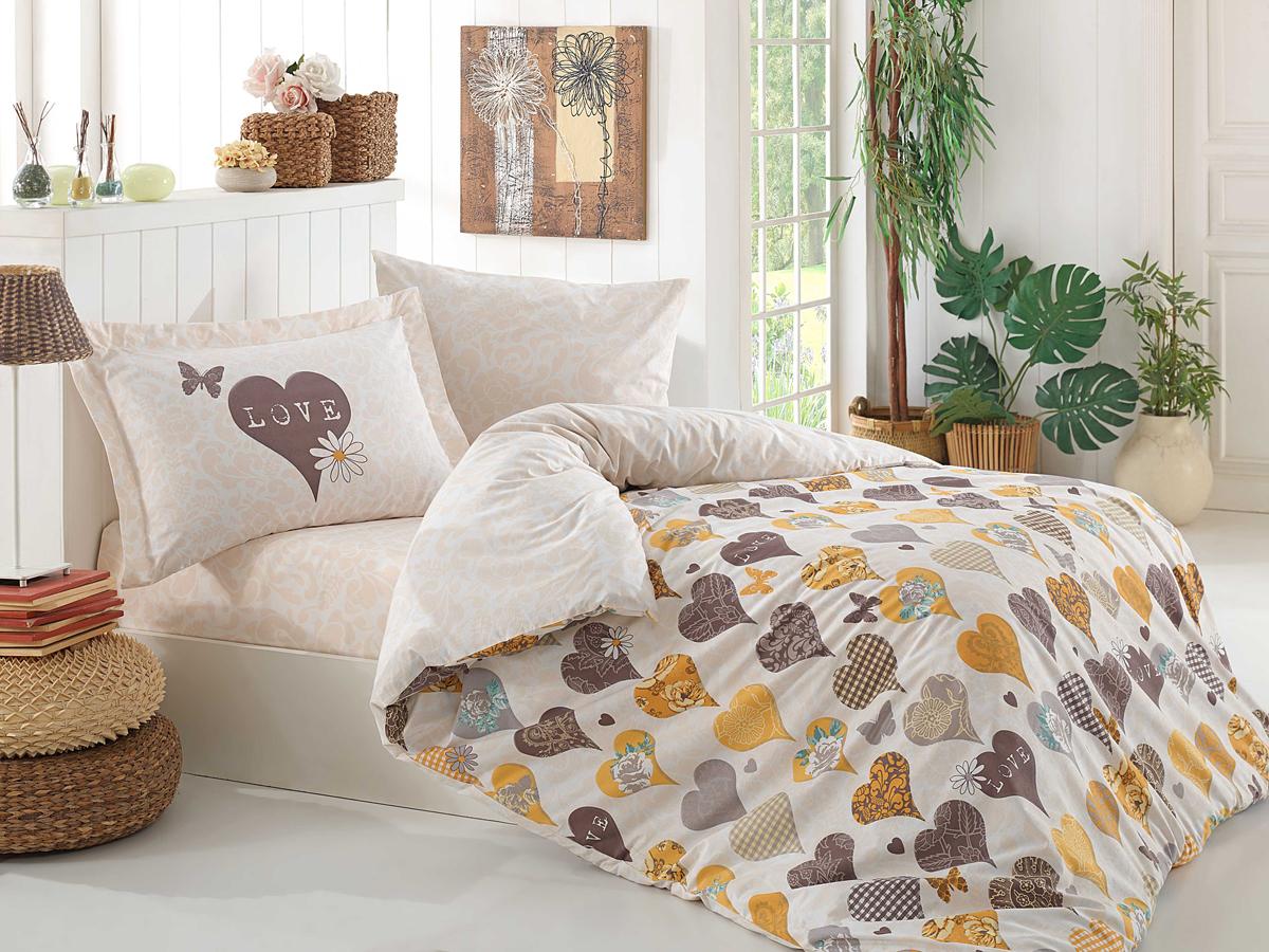 Комплект белья Hobby Home Collection Vera, 1,5-спальный, наволочки 50x70, 70х70, цвет: желтый1501001322Поплиновое постельное белье имеет ряд несомненных достоинств: оно хорошо сохраняет форму и цвет, имеет приятную на ощупь поверхность, хорошо удерживает тепло и впитывает влагу, почти не мнется. Кроме этого, комплекты постельного белья из поплина не требуют специального ухода: их можно стирать в стиральной машине при температуре до 60 градусов и гладить при температуре до 110 градусов. Ткань поплин гипоаллергенна, отвечает всем европейским экологическим стандартам.