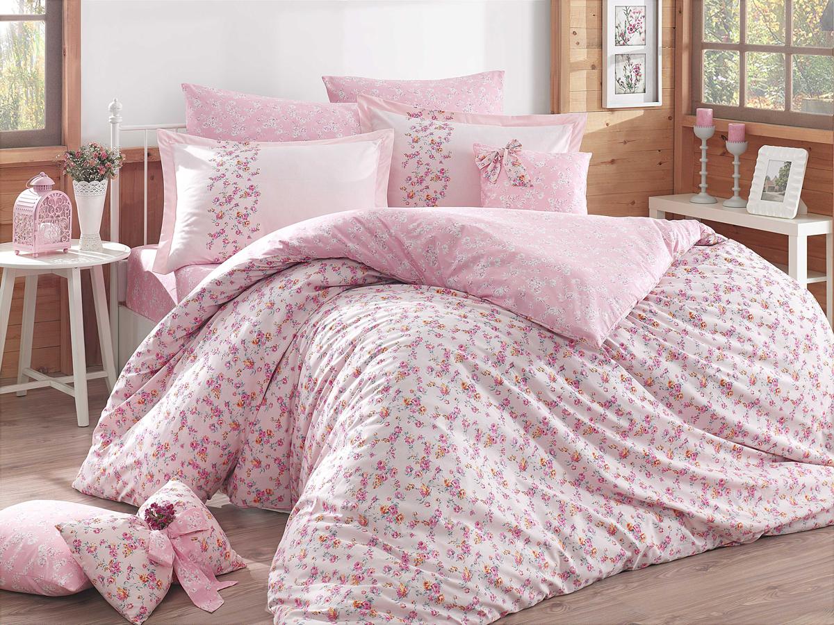 Комплект белья Hobby Home Collection Luisa, 1,5-спальный, наволочки 50x70, 70х70, цвет: розовый1501001584Поплиновое постельное белье имеет ряд несомненных достоинств: оно хорошо сохраняет форму и цвет, имеет приятную на ощупь поверхность, хорошо удерживает тепло и впитывает влагу, почти не мнется. Кроме этого, комплекты постельного белья из поплина не требуют специального ухода: их можно стирать в стиральной машине при температуре до 60 градусов и гладить при температуре до 110 градусов. Ткань поплин гипоаллергенна, отвечает всем европейским экологическим стандартам.