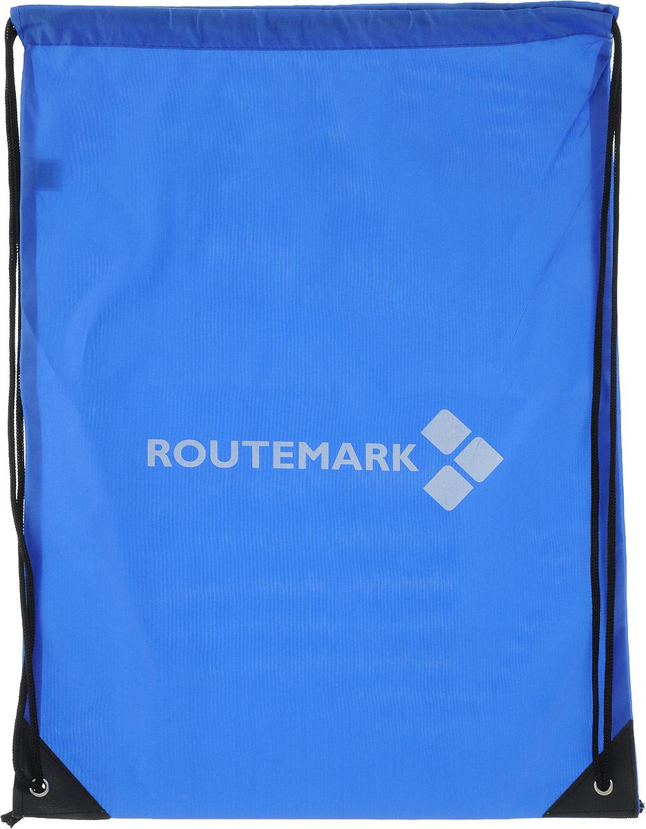 Рюкзак спортивный Routemark, цвет: синий, 43 х 33 см12339Яркий пляжный рюкзак Routemark выполнен из качественного плотного материала. Все необходимое (полотенце,тапочки, купальный костюм, крем для загара, кошелек и телефон) будут всегда с вами. В рюкзаке можно носитьсменную обувь в школу, кроссовки в спортзал или даже ходить с ним в обычный магазин за покупками. Рюкзакзатягивается в верхней части с помощью специального шнурка.