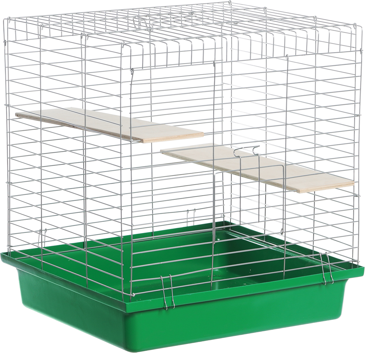 Клетка для шиншилл Велес  Lusy Jerry , разборная, цвет: салатовый, зеленый, 56 х 50 х 60 см - Клетки, вольеры, будки