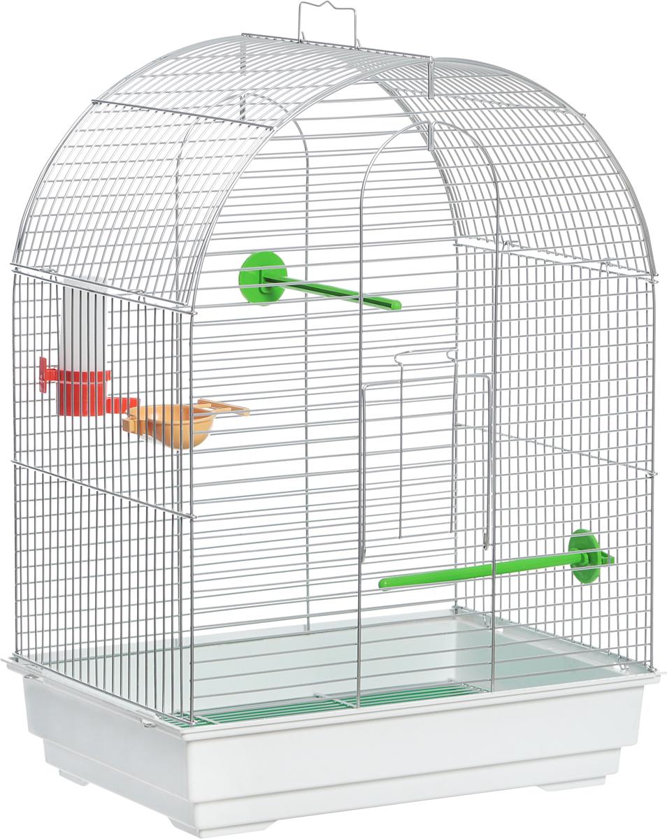 Клетка для птиц Велес  Lusy , разборная, цвет: белый, салатовый, 30 х 42 х 58 см - Клетки, вольеры, будки