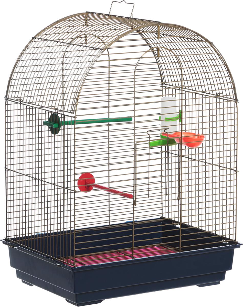 Клетка для птиц Велес  Lusy Gold , разборная, цвет: синий, розовый, 30 х 42 х 65 см - Клетки, вольеры, будки