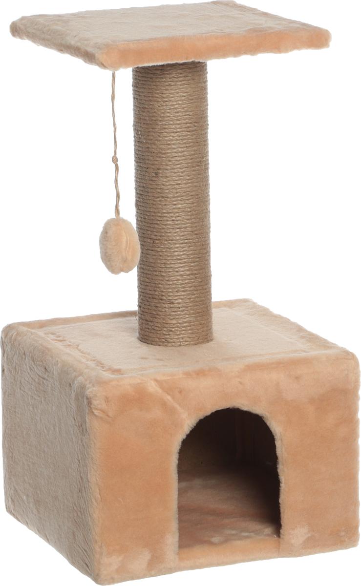 Игровой комплекс  Гамма  для кошек, квадратный, цвет: бежевый, 35 х 35 х 77 см - Когтеточки и игровые комплексы