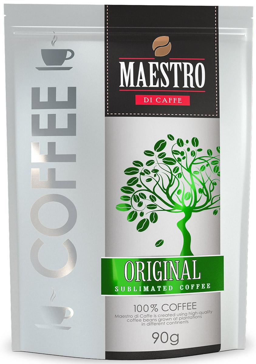 Maestro Di Caffe Original кофе растворимый сублимированный, 90 г5060468280418_дой-пак, сублимированныйРастворимый кофе Maestro Di Caffe Original сочетает глубокий бархатистый вкус бразильской арабики Santos с крепостью робусты из Гватемалы. Имеет среднюю обжарку.