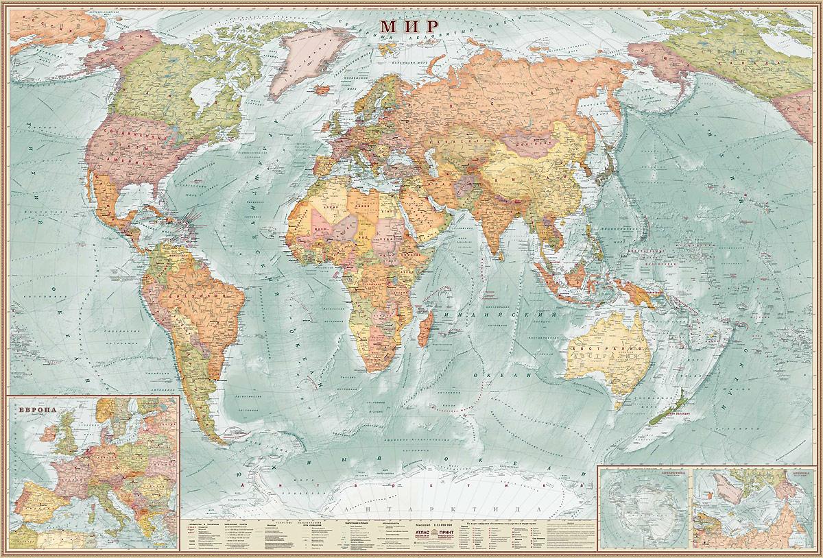 Мир. Карта настенная