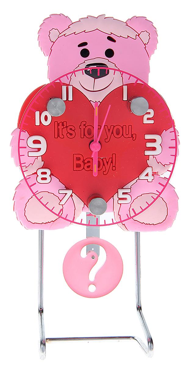 Часы настольные Мишка, 8,5 х 27 см. 10550821055082Каждому хозяину периодически приходит мысль обновить свою квартиру, сделать ремонт, перестановку или кардинально поменять внешний вид каждой комнаты. Часы настольные Мишка — привлекательная деталь, которая поможет воплотить вашу интерьерную идею, создать неповторимую атмосферу в вашем доме. Окружите себя приятными мелочами, пусть они радуют глаз и дарят гармонию.
