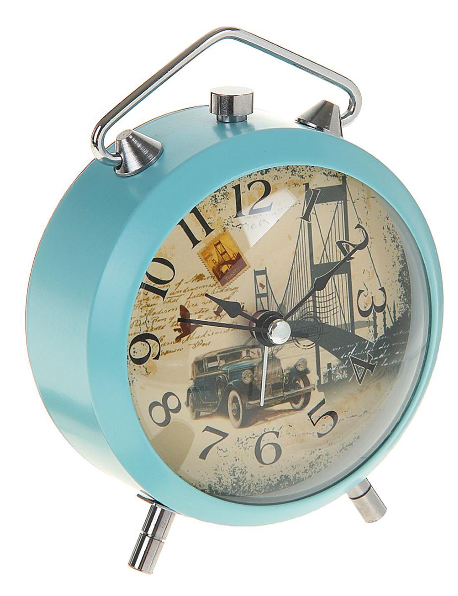 """Будильник """"Ева. Ретро машина"""", диаметр 9 см. 1717013, NoName"""