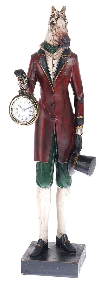 Статуэтка Конь с часами, 48 х 9,5 х 10,3 см. 2467781 статуэтка русские подарки мисс рандеву 11 х 10 х 31 см