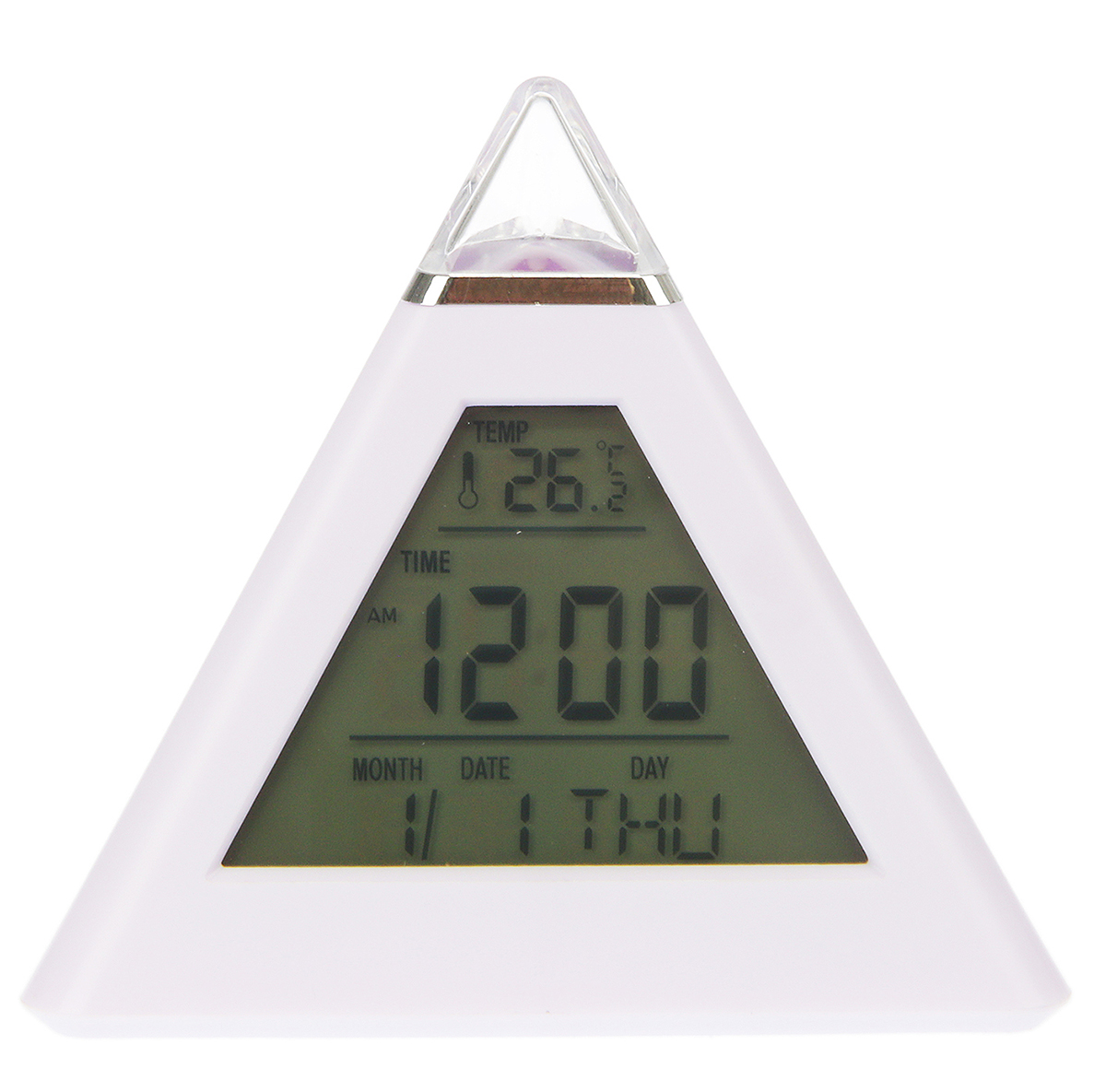 Часы-будильник Пирамида, цвет: зеленый 10 х 9,6 см. 25904992590499Каждому хозяину периодически приходит мысль обновить свою квартиру, сделать ремонт, перестановку или кардинально поменять внешний вид каждой комнаты. — привлекательная деталь, которая поможет воплотить вашу интерьерную идею, создать неповторимую атмосферу в вашем доме. Окружите себя приятными мелочами, пусть они радуют глаз и дарят гармонию.