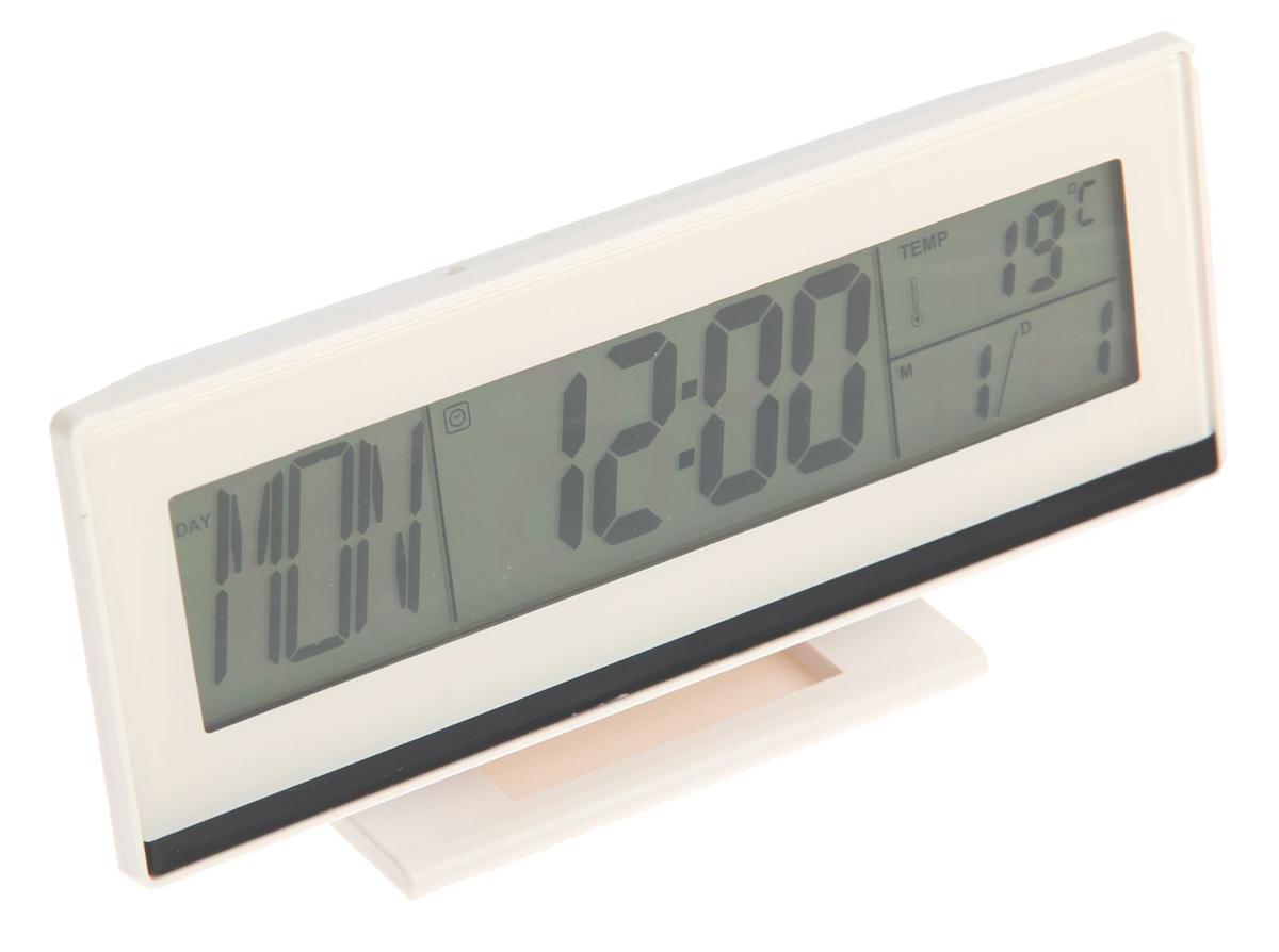 Часы-будильник Luazon Home. 26031322603132Часы-будильник оснащены ЖК-экраном с подсветкой, на котором отображаются время, температура и дата.