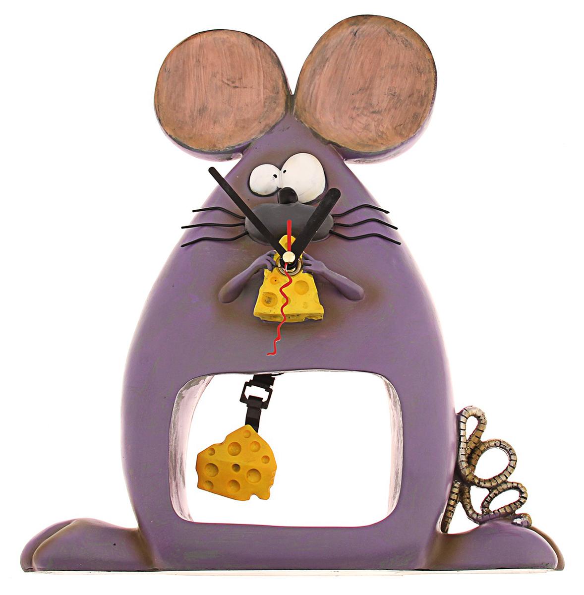 Часы настольные Мышка с сыром, 27 х 31 см. 760880760880Каждому хозяину периодически приходит мысль обновить свою квартиру, сделать ремонт, перестановку или кардинально поменять внешний вид каждой комнаты. Часы настольные Мышка с сыром — привлекательная деталь, которая поможет воплотить вашу интерьерную идею, создать неповторимую атмосферу в вашем доме. Окружите себя приятными мелочами, пусть они радуют глаз и дарят гармонию.