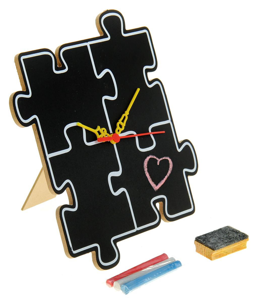 Часы Мозаика, с мелком 23,6 х 23,6 см. 836797836797Приятнее, чем с головой погрузиться в творческий процесс, может быть только ощущение наслаждения результатами своей деятельности. Часы настольные для рисования Мозаика понравятся и взрослым, и детям, начинающим раскрывать свой талант. Ведь это не просто часы, а отличный способ приятно и с пользой провести время. Вы сами создаете их уникальный стиль! Вам нужно просто, проявив фантазию, раскрасить часы в свои любимые цвета. Когда всё готово, остаётся вставить в часовой механизм батарейку (не входит в комплект) и поставить часы на самое видное место!