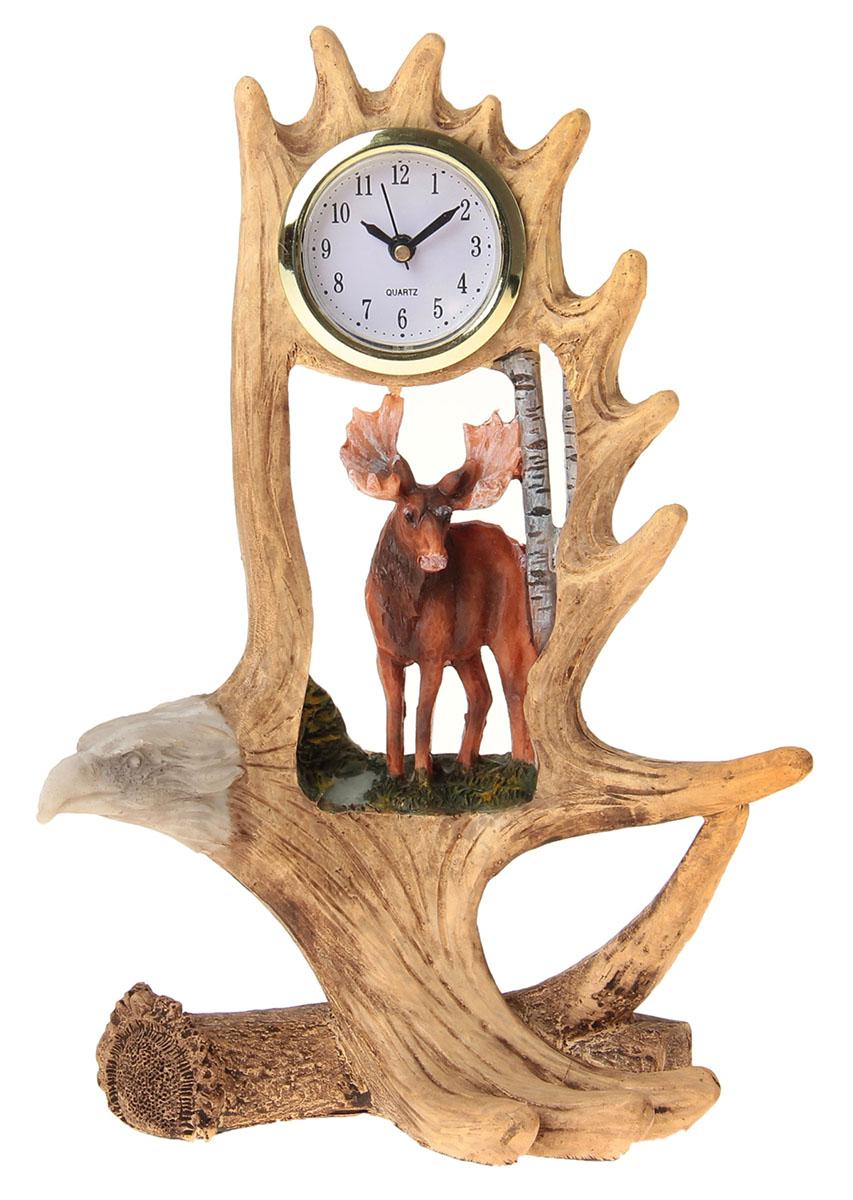 Часы настольные Лось в крыле орла, 14,5 х 22 см. 872895872895Каждому хозяину периодически приходит мысль обновить свою квартиру, сделать ремонт, перестановку или кардинально поменять внешний вид каждой комнаты. Часы настольные Лось в крыле орла — привлекательная деталь, которая поможет воплотить вашу интерьерную идею, создать неповторимую атмосферу в вашем доме. Окружите себя приятными мелочами, пусть они радуют глаз и дарят гармонию.