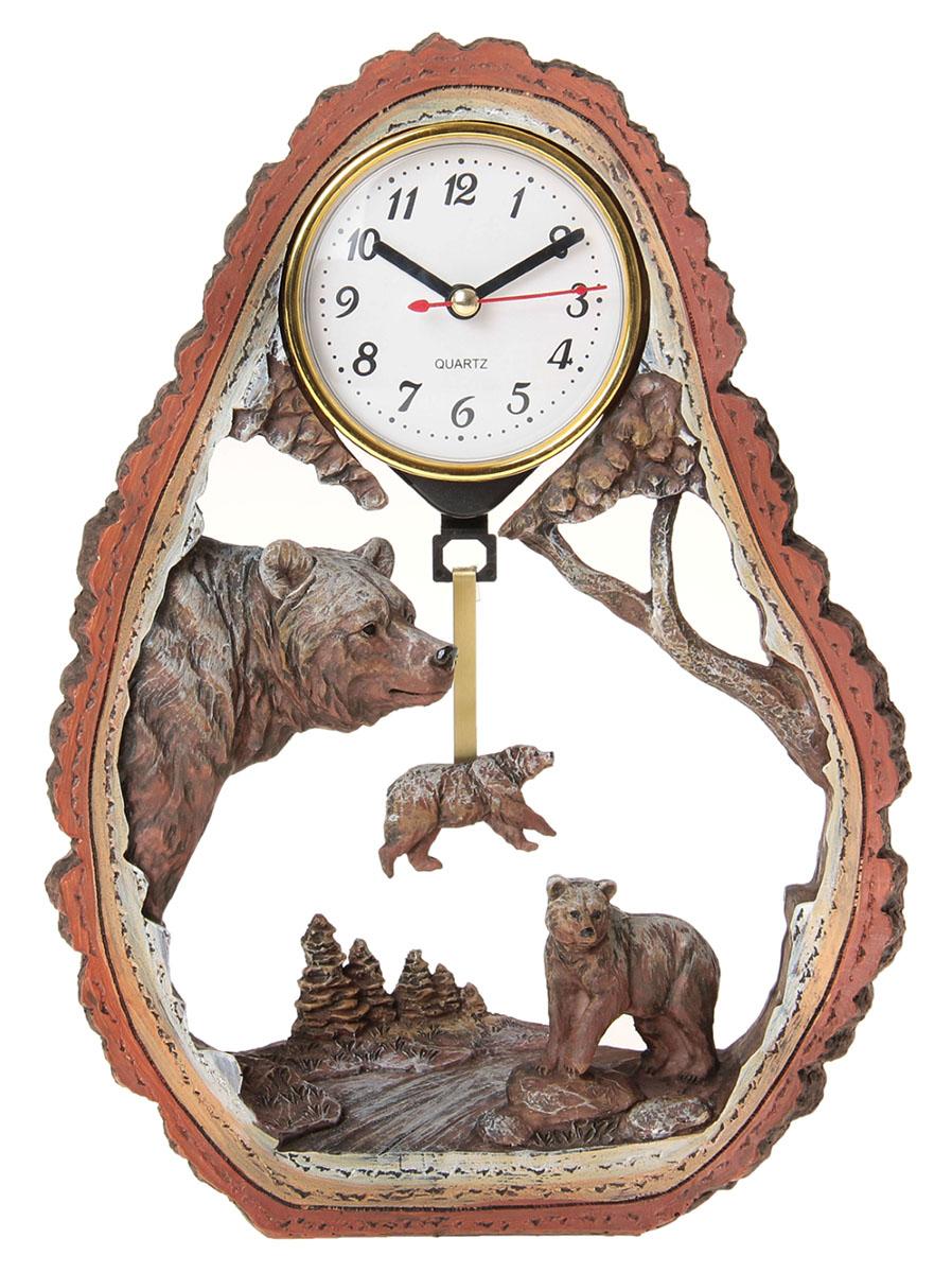 Часы настольные Медвежья семья, 20 х 28 см. 872905872905Каждому хозяину периодически приходит мысль обновить свою квартиру, сделать ремонт, перестановку или кардинально поменять внешний вид каждой комнаты. Часы настольные Медвежья семья — привлекательная деталь, которая поможет воплотить вашу интерьерную идею, создать неповторимую атмосферу в вашем доме. Окружите себя приятными мелочами, пусть они радуют глаз и дарят гармонию.