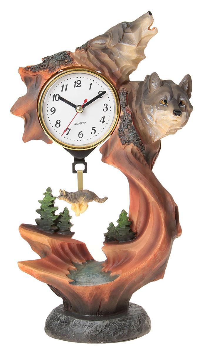 Часы настольные Волки на обрыве, 18 х 33 см. 872908872908Каждому хозяину периодически приходит мысль обновить свою квартиру, сделать ремонт, перестановку или кардинально поменять внешний вид каждой комнаты. Часы настольные Волк на обрыве — привлекательная деталь, которая поможет воплотить вашу интерьерную идею, создать неповторимую атмосферу в вашем доме. Окружите себя приятными мелочами, пусть они радуют глаз и дарят гармонию.