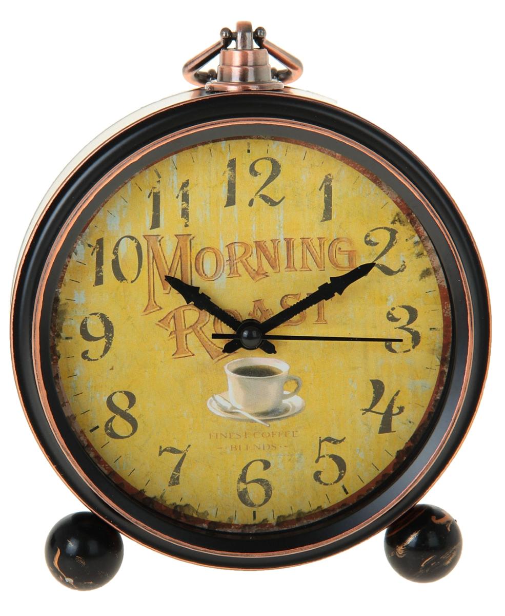 Будильник Ретро. Morning Roast, диаметр 13,5 см. 906616906616Каждому хозяину периодически приходит мысль обновить свою квартиру, сделать ремонт,перестановку или кардинально поменять внешний вид каждой комнаты. Будильник -привлекательная деталь, которая поможет воплотить вашу интерьерную идею, создатьнеповторимую атмосферу в вашем доме.Окружите себя приятными мелочами, пусть онирадуют глаз и дарят гармонию.