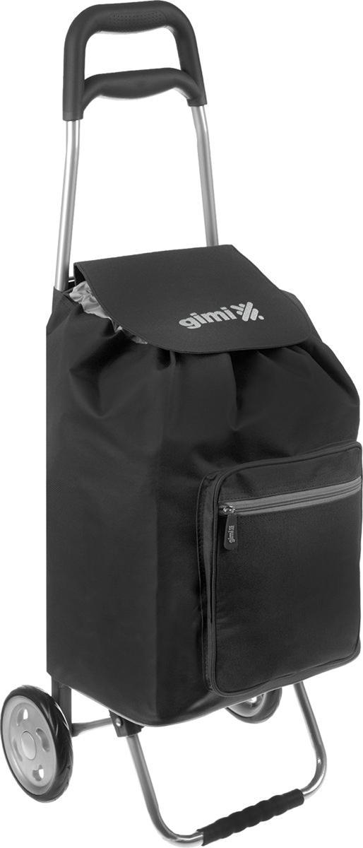 Сумка-тележка Gimi Argo, цвет: черный, 45 л тележка для транспортировки автомобилей сорокин 2т 9 64