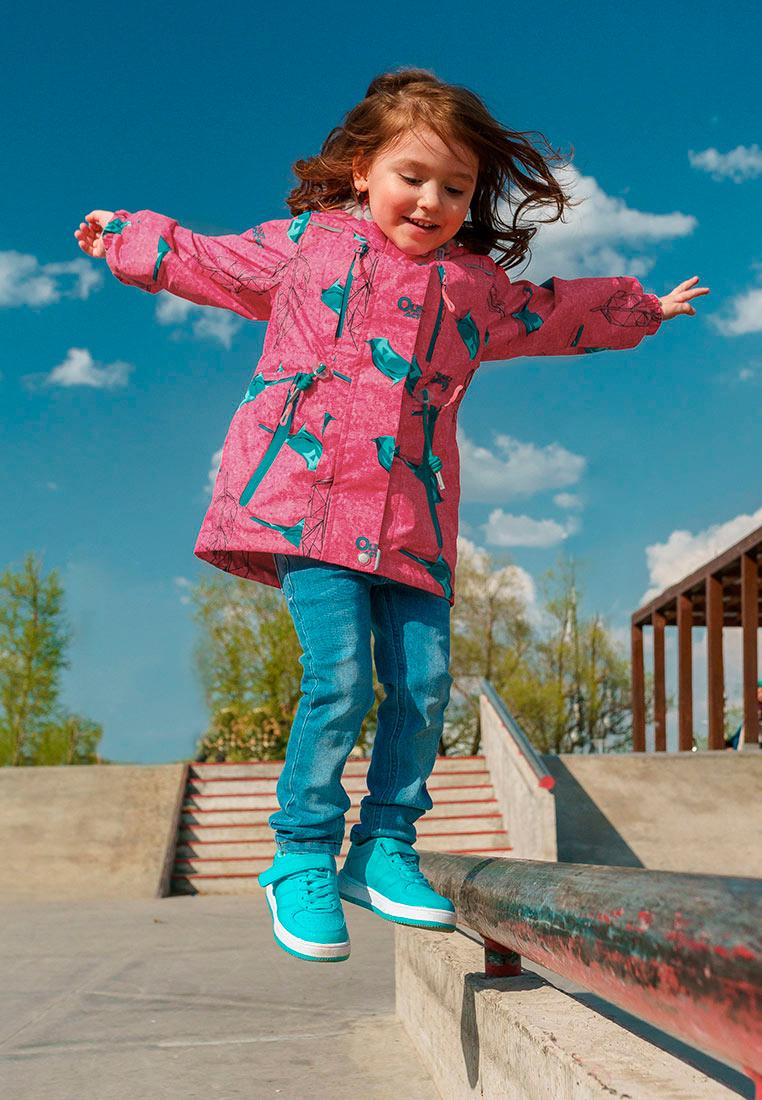 Куртка для девочки Oldos Active Рэйна, цвет: розовый, бирюзовый. 3A8JK09-1. Размер 116, 6 лет3A8JK09-1Яркая и практичная куртка из мембранной коллекции OLDOS ACTIVE. Верхняя ткань с мембраной обеспечивает водонепроницаемость, при этом одежда дышит. Покрытие TEFLON повышает износостойкость и облегчает уход. Подкладка- флис, в области груди и спины, плотный полиэстер в рукавах. Такая куртка прекрасно защитит от непогоды благодаря продуманному функционалу: капюшону, который отстегивается при необходимости, двойной ветрозащитной планке, манжетам на резинке и внешней регулировке по талии, регулируемой утяжке по низу ветровки. Куртка оснащена карманами на молнии и светоотражающими элементами. Внутри есть потайной карман, который застегивается на липучку и нашивка-потеряшка.
