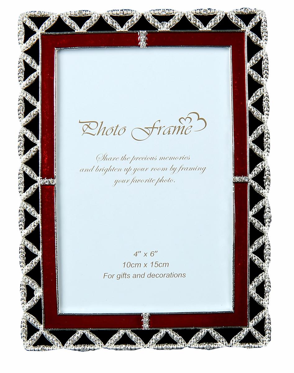 Фоторамка Рубиновая полоса с эмалью, 10х15 см. 1023659 рубиновая книга сказок cdmp3