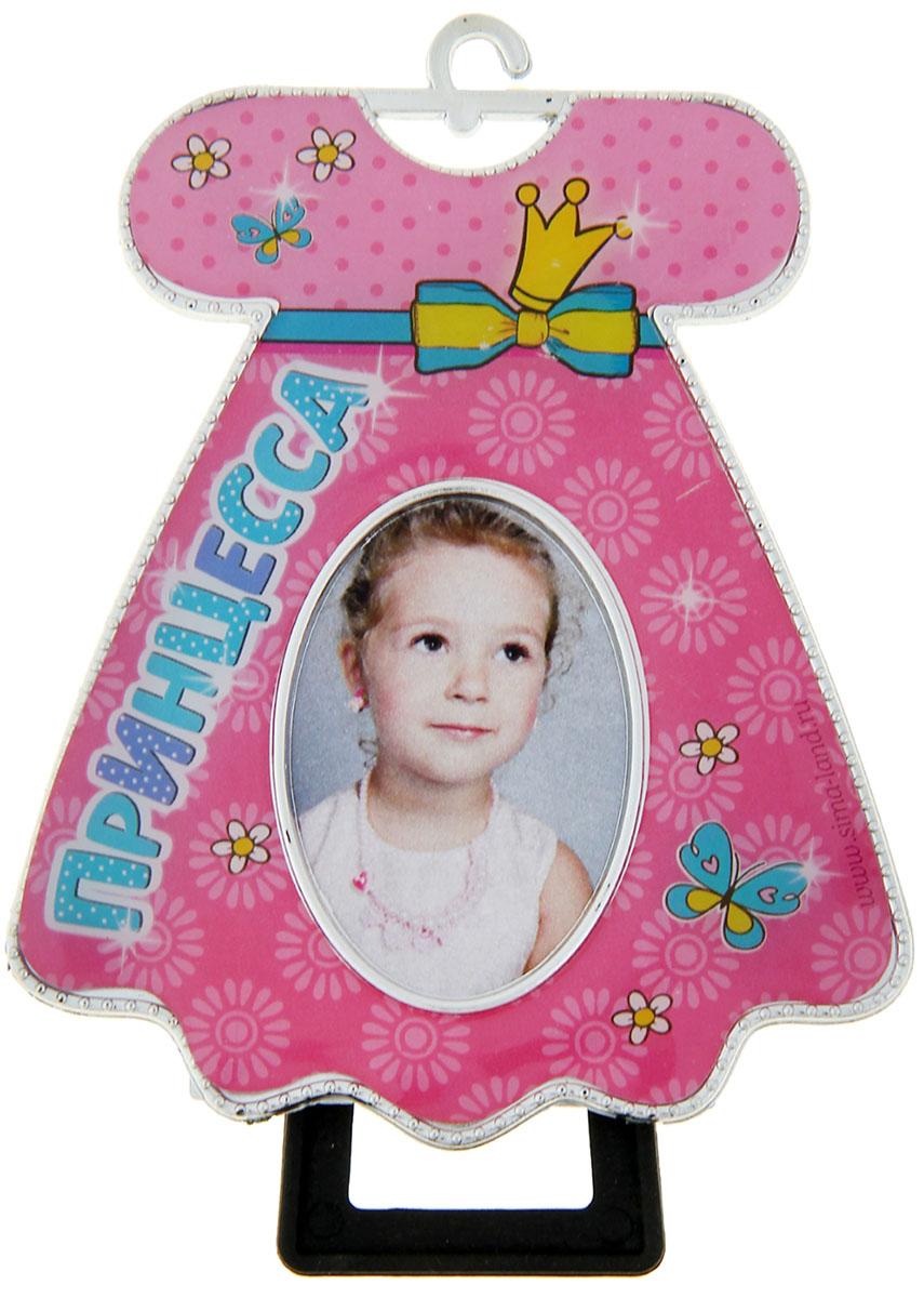 Фоторамка Принцесса, цвет: розовый. 10397421039742Благодаря стильному оформлению такая вещь украсит интерьер дома. Особенности: изделие выполнено из практичного пластика; оно рассчитано на изображение размером 3,5 ? 4,5 см; рамка на ножке.