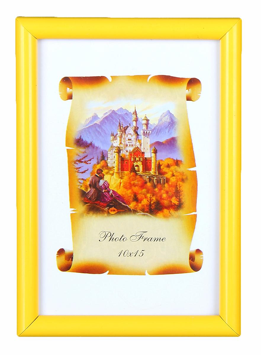 Фоторамка, 10 х 15 см, 45-АМ (Ф), цвет: желтый . 11120601112060Классическая Фоторамка 10х15 Yellow classic от российского производителя станет незаменимой помощницей в Вашем обиходе. Ведь туда можно поместить не только любимое фото, но и рисунок своего ребенка, чтобы сохранить его на долгую память. Дизайн рамки создан таким образом, что она подойдет буквально ко всему и будет оригинальным дополнением любого интерьера, будь то спальная, детская или даже личный кабинет.
