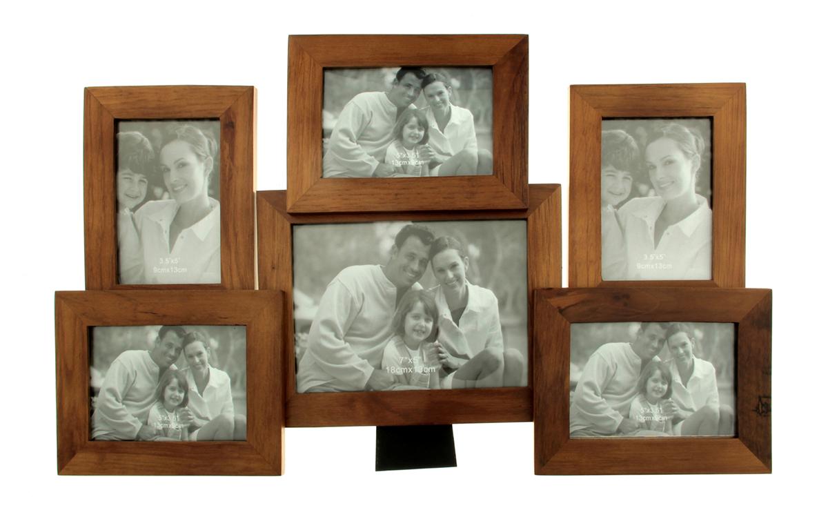 Фоторамка Семейные истории, на 6 фото, цвет: коричневый. 133491133491Каждому хозяину периодически приходит мысль обновить свою квартиру, сделать ремонт, перестановку или кардинально поменять внешний вид каждой комнаты. Фоторамка на 6 фото 9х13 см, 13х18 см Семейные истории, цвет махагон — привлекательная деталь, которая поможет воплотить вашу интерьерную идею, создать неповторимую атмосферу в вашем доме. Окружите себя приятными мелочами, пусть они радуют глаз и дарят гармонию. Фоторамка — необходимая вещь в каждом доме. Кроме того, это всегда нужный подарок, который уместен к любому празднику. Аксессуар не только бережно сохранит любимый снимок, но и украсит интерьер, сделает его более уютным и индивидуальным. Окружайте себя мелочами, которые день ото дня будут радовать глаз и поднимать настроение.