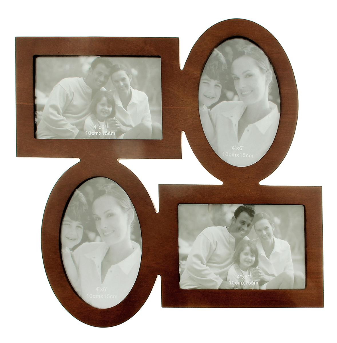 Фоторамка Лаконичность, на 4 фото, цвет: коричневый. 133507133507Фоторамка — необходимая вещь в каждом доме. Кроме того, это всегда нужный подарок, который уместен к любому празднику. Аксессуар не только бережно сохранит любимый снимок, но и украсит интерьер, сделает его более уютным и индивидуальным. Окружайте себя мелочами, которые день ото дня будут радовать глаз и поднимать настроение. Каждому хозяину периодически приходит мысль обновить свою квартиру, сделать ремонт, перестановку или кардинально поменять внешний вид каждой комнаты. Фоторамка на 4 фото 10х15 см Лаконичность, цвет махагон — привлекательная деталь, которая поможет воплотить вашу интерьерную идею, создать неповторимую атмосферу в вашем доме. Окружите себя приятными мелочами, пусть они радуют глаз и дарят гармонию.