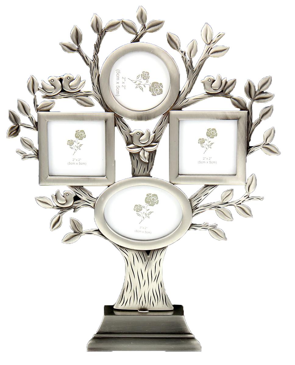 Фоторамка Дерево с птичками, на 4 фото. 134782134782Каждому хозяину периодически приходит мысль обновить свою квартиру, сделать ремонт, перестановку или кардинально поменять внешний вид каждой комнаты. Фоторамка на 4 фото 5х5 см, 5х8 см Дерево с птичками — привлекательная деталь, которая поможет воплотить вашу интерьерную идею, создать неповторимую атмосферу в вашем доме. Окружите себя приятными мелочами, пусть они радуют глаз и дарят гармонию. Фоторамка — необходимая вещь в каждом доме. Кроме того, это всегда нужный подарок, который уместен к любому празднику. Аксессуар не только бережно сохранит любимый снимок, но и украсит интерьер, сделает его более уютным и индивидуальным. Окружайте себя мелочами, которые день ото дня будут радовать глаз и поднимать настроение.