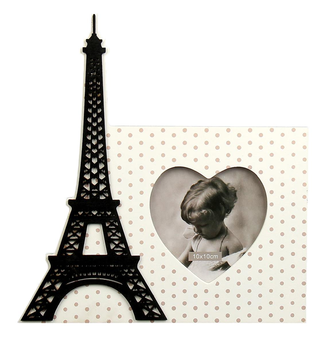 Фоторамка Эйфелева башня. 157956157956Французский стиль поистине неповторим: в нем причудливо сочетаются подлинный шик и нарочитая простота. Бывали ли Вы в самом сердце Франции – блистательном Париже – или только собираетесь его посетить – он очаровывает и на расстоянии и невольно заставляет мечтать о свежеиспеченных круассанах, звуках уличного аккордеона и корабликах, плывущих по Сене. Стильная фоторамка, украшенная изображением одного из главных символов Франции, позволит привнести в интерьер парижский шик и неповторимый стиль. Фоторамка Эйфелева башня 10х10 см – элегантный и функциональный сувенир.
