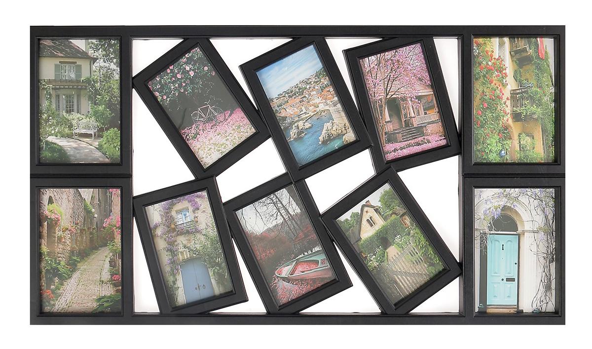 Фоторамка Воспоминания, на 10 фото, 10 х 15, 13 х 18 см, цвет: черный. 2751028 фоторамки русские подарки фоторамка