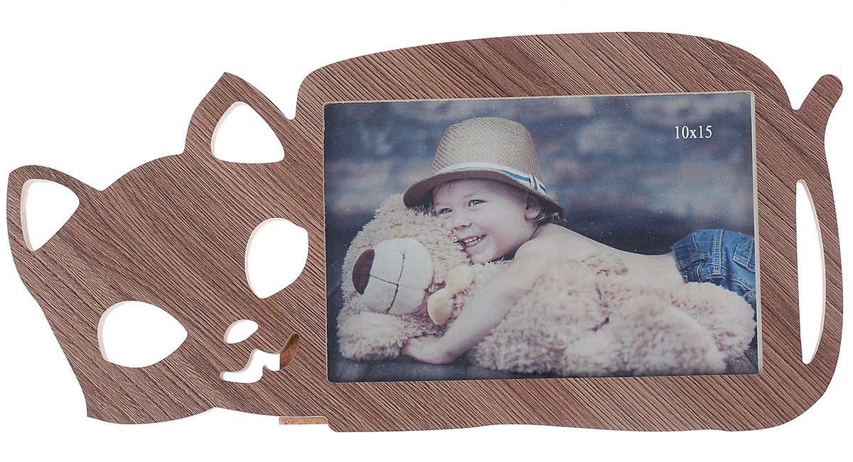 Фоторамка Кошка,, цвет: коричневый. 29019732901973Фоторамка — необходимая вещь в каждом доме. Кроме того, это всегда нужный подарок, который уместен к любому празднику. Аксессуар не только бережно сохранит любимый снимок, но и украсит интерьер, сделает его более уютным и индивидуальным. Окружайте себя мелочами, которые день ото дня будут радовать глаз и поднимать настроение. Каждому хозяину периодически приходит мысль обновить свою квартиру, сделать ремонт, перестановку или кардинально поменять внешний вид каждой комнаты. — привлекательная деталь, которая поможет воплотить вашу интерьерную идею, создать неповторимую атмосферу в вашем доме. Окружите себя приятными мелочами, пусть они радуют глаз и дарят гармонию.