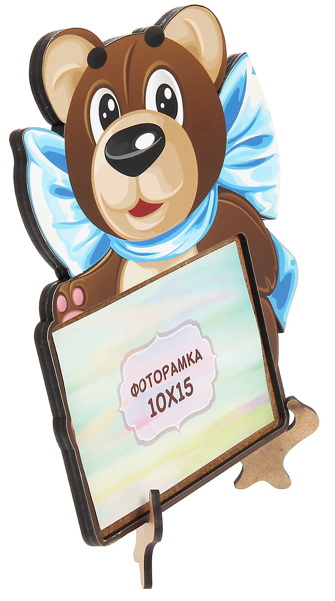Фоторамка Медведь с бантом,, цвет: коричневый. 29259122925912Фоторамка — необходимая вещь в каждом доме. Кроме того, это всегда нужный подарок, который уместен к любому празднику. Аксессуар не только бережно сохранит любимый снимок, но и украсит интерьер, сделает его более уютным и индивидуальным. Окружайте себя мелочами, которые день ото дня будут радовать глаз и поднимать настроение. Каждому хозяину периодически приходит мысль обновить свою квартиру, сделать ремонт, перестановку или кардинально поменять внешний вид каждой комнаты. — привлекательная деталь, которая поможет воплотить вашу интерьерную идею, создать неповторимую атмосферу в вашем доме. Окружите себя приятными мелочами, пусть они радуют глаз и дарят гармонию.