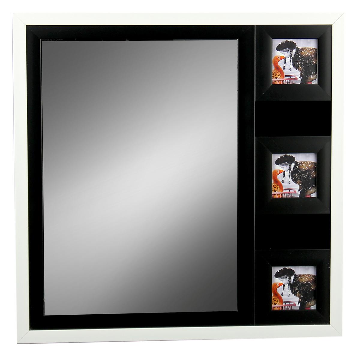 Фоторамка, с зеркалом, на 3 фото, цвет: белый. 717098717098Фоторамка на 3 фото с зеркалом 8х8 см - казалось бы, небольшой сувенир, который напомнит о счастливых днях, проведенных наедине друг с другом, с семьей, а также украсит домашний интерьер, придавая ему тот неповторимый уют, который возможен только в доме, где царят гармония и любовь. Она станет замечательным подарком на 14 февраля, годовщину или в другой значимый для Вас день, чтобы просто порадовать свою вторую половинку.