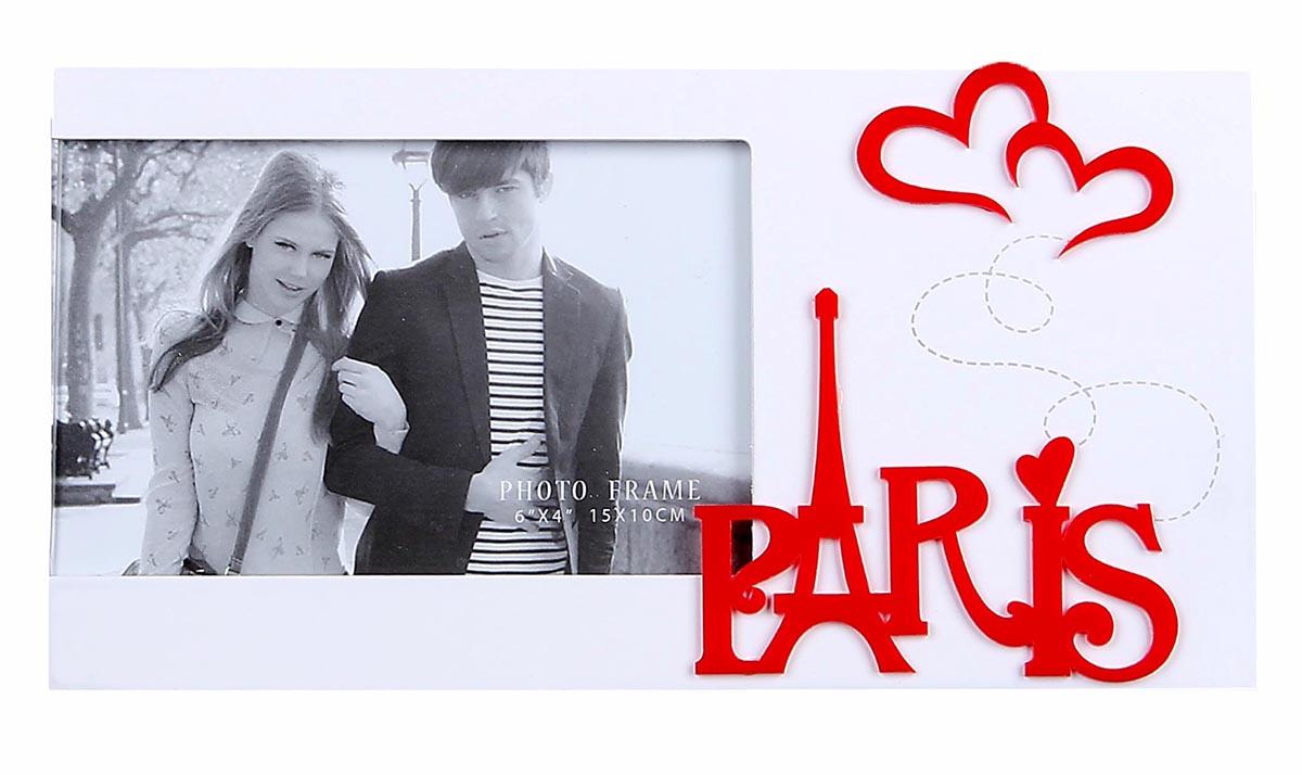 Фоторамка Романтика Парижа, 10 х 15 см, 13х25 см . 819819Фоторамка Романтика Парижа 10х15 см станет великолепным обрамлением Вашей совместной фотографии, а также милым романтичным подарком на День всех влюбленных или другой важный для Вас день. Фоторамка, как и фотография несет в себе свою историю, она напоминает о дне, когда фоторамка «поселилась» у Вас, а фотография в ней о конкретном событии, и совместная композиция взволнует теплые чувства и всколыхнёт положительные эмоции. Пусть эта яркая фоторамка станет частью Вашей истории!