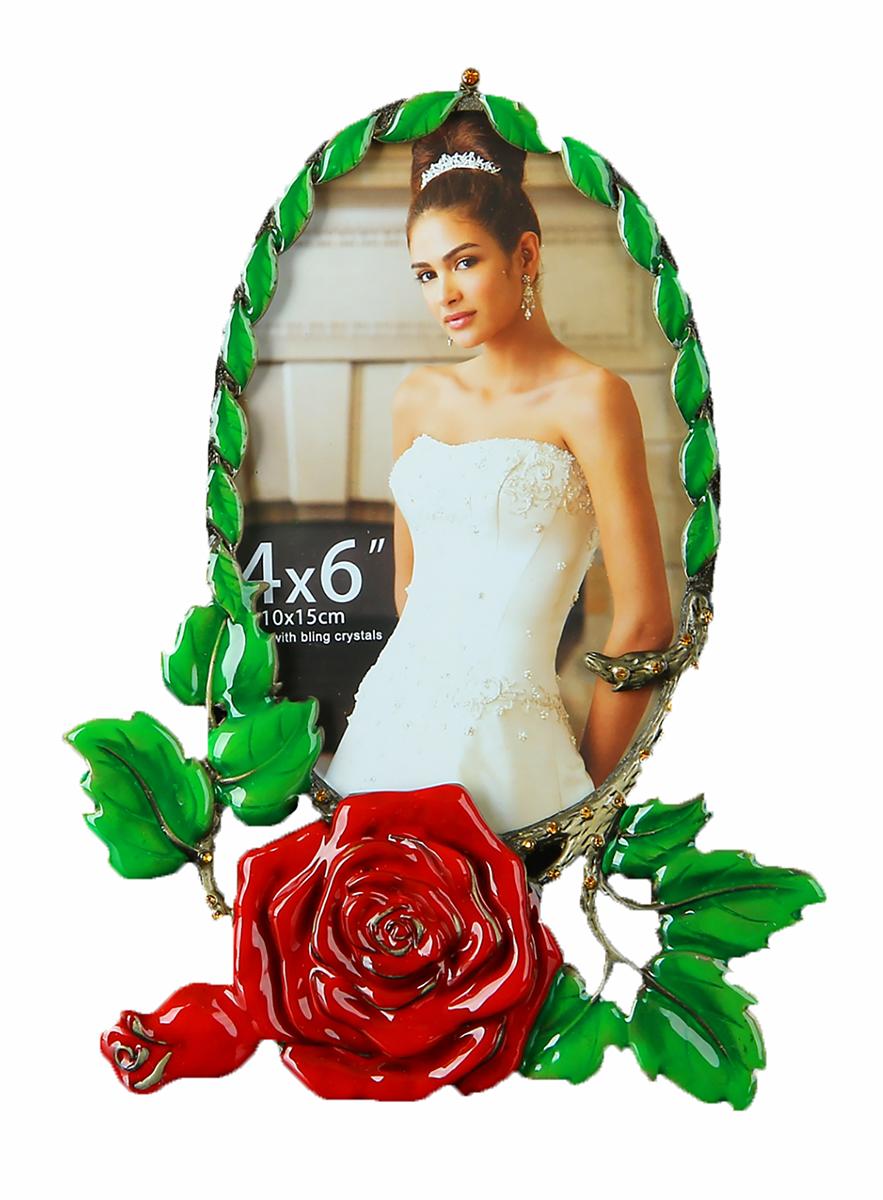 Фоторамка Алая роза, 10 х 15 см. 910213910213Хотите по-особому оформить любимую фотографию? А ведь, с изобретением первого фотоаппарата, так и по сегодняшний день существует потребность, обрамлении красочных и ярких фотографий не менее яркими и красивыми фоторамками, такими как эта: Фоторамка Алая роза 10х15 см. Поместив фотографию в фоторамку, Вы можете быть уверены, что она не затеряется в полках, ящиков рабочих столов. Она будет выгодно смотреться в любом интерьере, дарить уют и теплую улыбку Вам и Вашим близким.