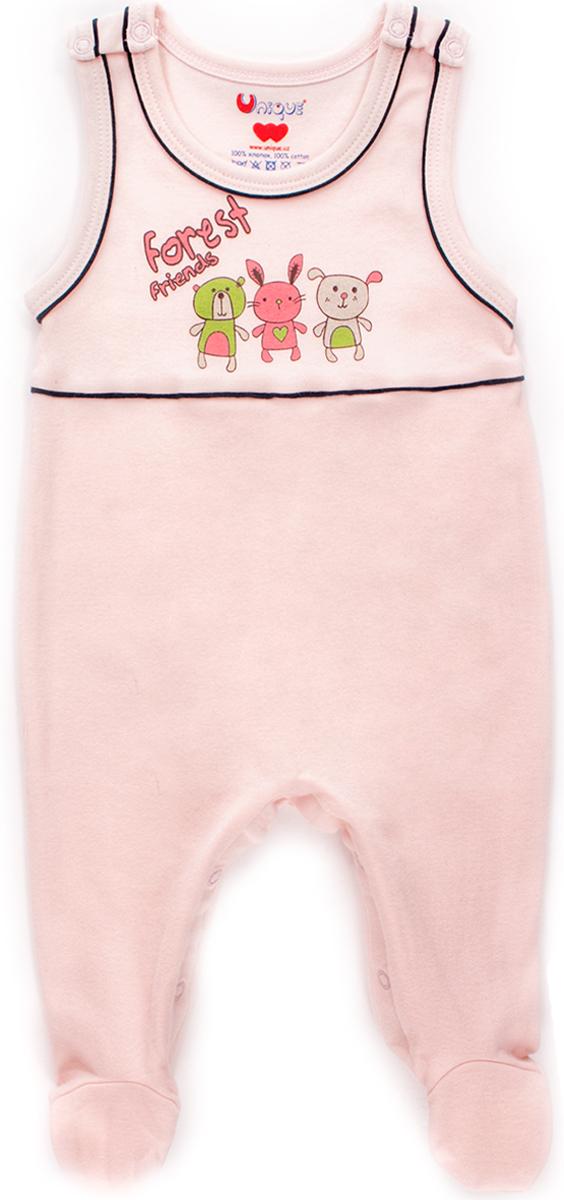 Комбинезон домашний детский Unique, цвет: розовый. U115505. Размер 62U115505