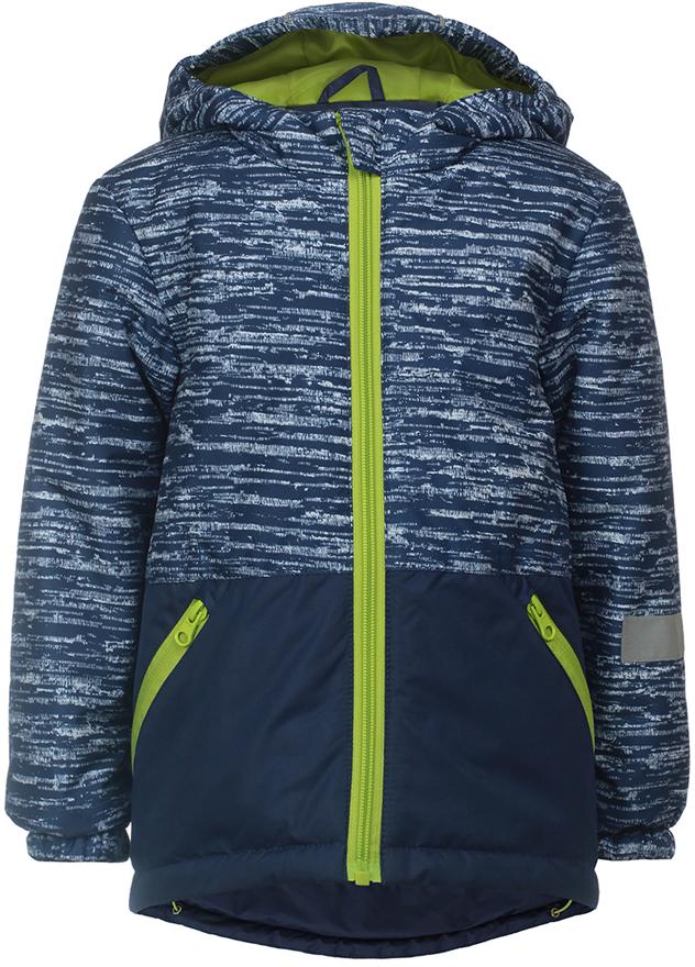 Куртка для мальчика Jicco By Oldos Чип, цвет: синий. 2J8JK05. Размер 104, 4 года2J8JK05Легкая и удобная весенняя куртка от JICCO by OLDOS. Внешняя ткань с водо-грязеотталкивающей пропиткой защищает от ветра и дождя. Утеплитель в куртке синтепон 100 г/м2. Куртка имеет все самое необходимое для комфортной носки: капюшон с внутренней резинкой по краям для лучшего прилегания, внутреннюю ветрозащитную планку по всей длине молнии с защитой подбородка от прищемления, манжеты на резинке, карманы на молнии, регулируемую утяжку по низу куртки. Светоотражающие элементы. Рекомендовано от минус 5 С до плюс 10 С.