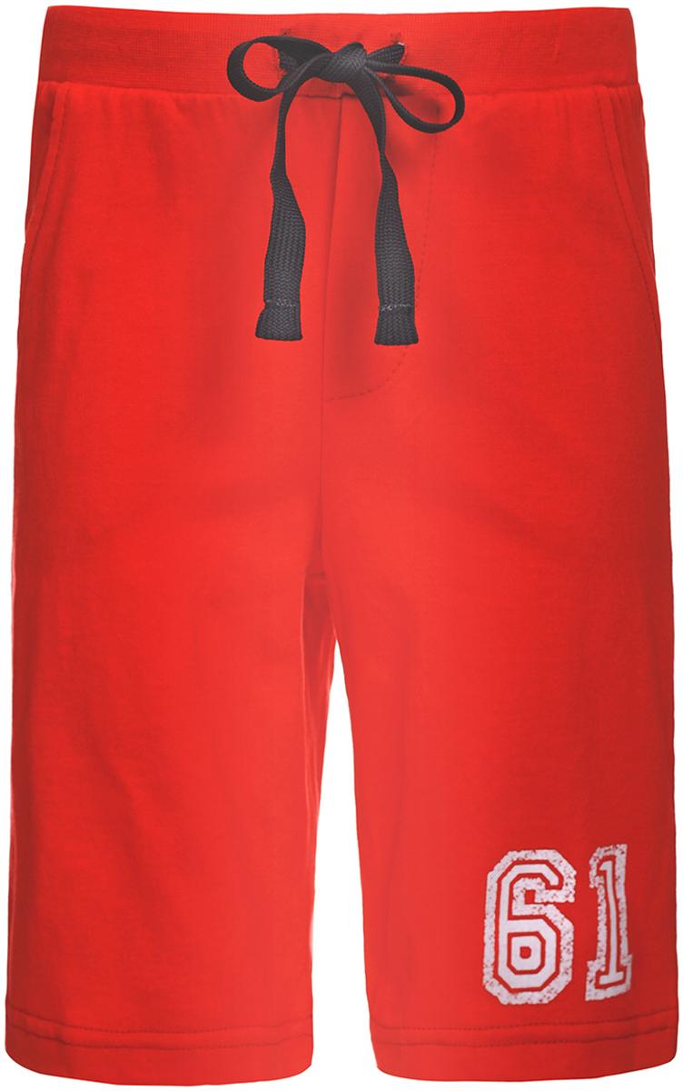 Шорты для мальчика Unique, цвет: красный. U137007. Размер 98U137007Комфортные шорты для мальчика от Unique выполнены из натурального хлопка. Материал очень мягкий и приятный на ощупь. Модель прямого кроя с резинкой на талии дополнена регулируемым шнурком. По бокам предусмотрены втачные карманы. Шорты оформлены принтом.